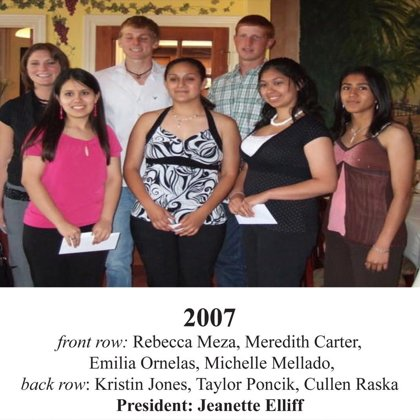 2007 FBFN Foundation Scholarship Recipients