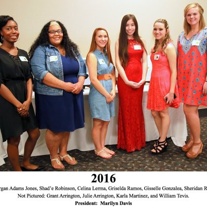 2016 FBFN Foundation Scholarship Recipients